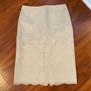 Lace Banana Republic skirt